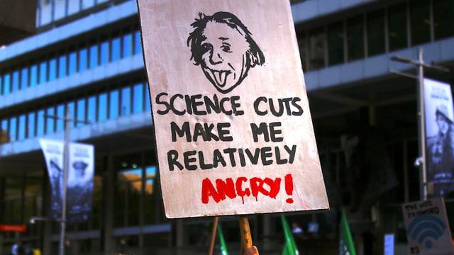 Plakat mit Einstein-Konterfei