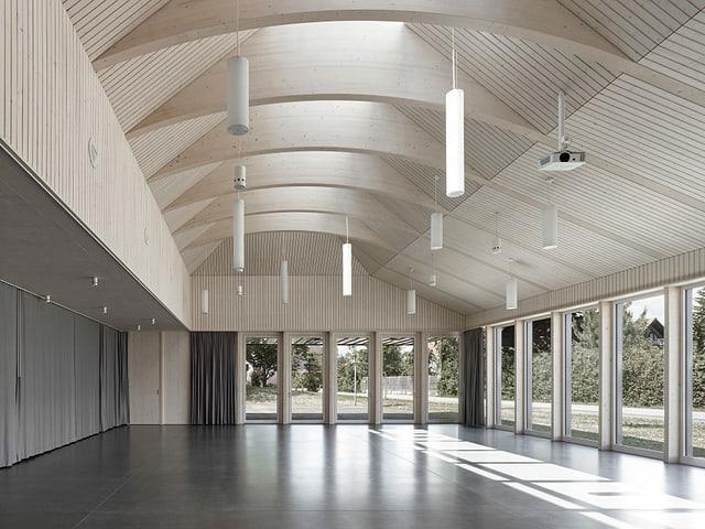 Innenraum neues Pfarreizentrum Kriegstetten
