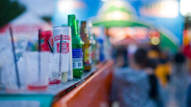 Bavrondas alcoholicas sin ina bar.