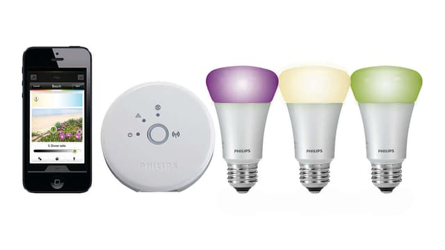 LED-Lampen und Smartphone