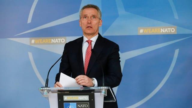 Purtret da Jens Stoltenberg, secretari general da la NATO.