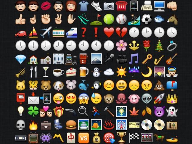 Verschiedene Emojis, die schon verfügbar sind