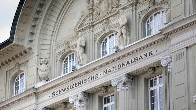 Fassade der Schweizerischen Nationalbank.