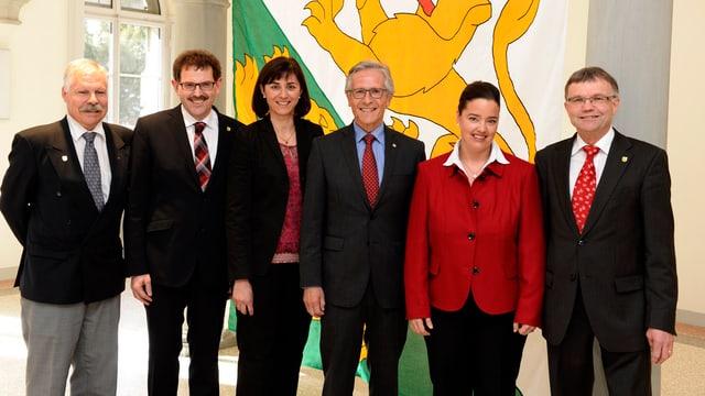 Aktuelle Thurgauer Regierungsmitglieder.