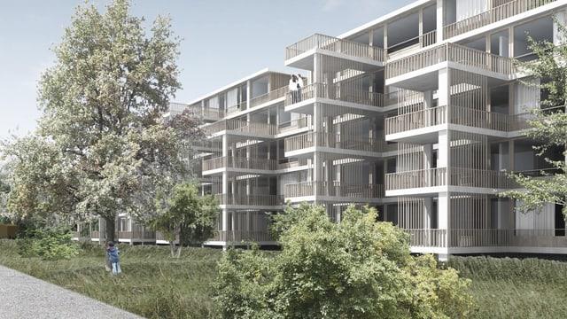 Visualisierung Wohnüberbauung