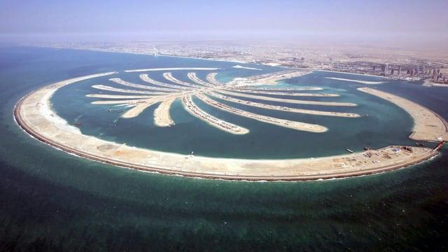 Die künstliche Insel «Palm Island» wurde unter Leitung niederländischer Fachleute vor vor der Küste von Dubai errichtet.