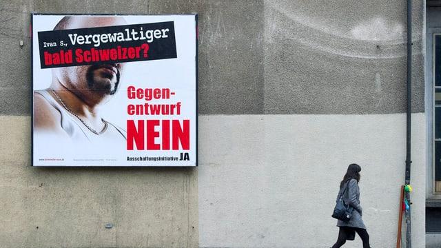 Plakat der Ausschaffungsinitiative