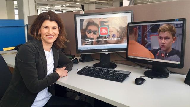 Viviane Manz hat «YouNews» gemeinsam mit zwei Kollegen 2018 ins Leben gerufen.
