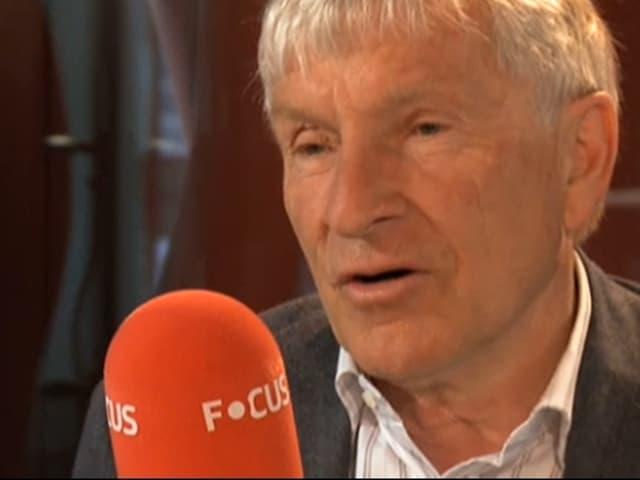 Fussball-Geschäftsmann Erich Vogel war zu Gast bei Focus-Moderator Tom Gisler.