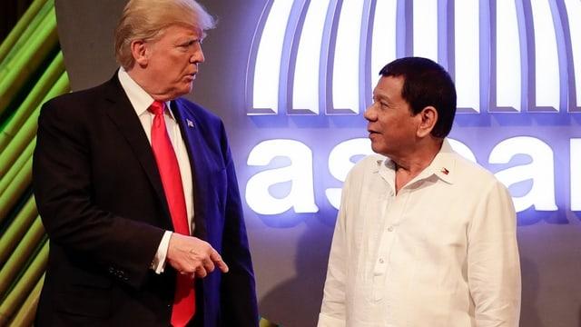 Trump und Duterte.