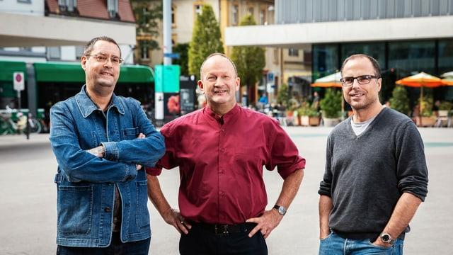 Gion Mathias Cavelty, Matthias Berger und Lukas Holliger