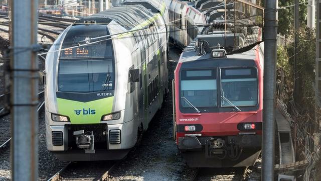 In tren BLS exact sper in tren SBB.