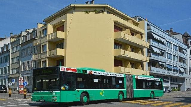 Dein Bus der Nummer 34 unterwegs vom Wettsteinplatz zum Claraplatz