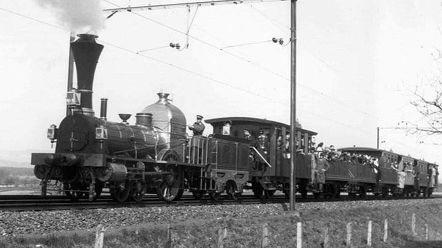 Eine Nachbildung der Spanisch-Brötli-Bahn