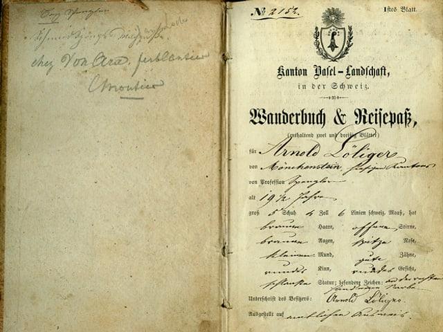 Wanderbuch von Arnold Loeliger.