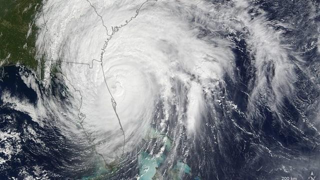Il hurican «Matthew» sper la costa da Florida, registrà dad in satellit da la NASA.