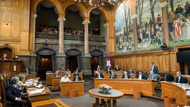 sguard en la stanza dal parlament dal Cussegl dals chantuns