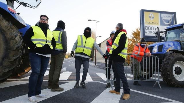 Ein Bild aus den Anfängen der Gelbwesten-Proteste