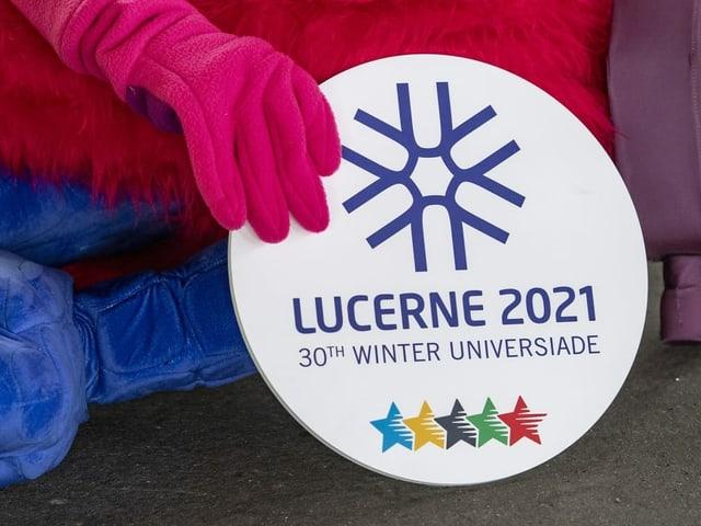 Logo der Winter Universiade in Luzern.