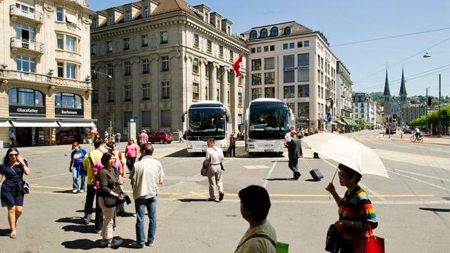 Der Schwanenplatz in Luzern.