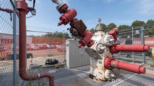 Geothermie-Bohrloch in Kleinhüningen - auf einem Industriegelände.