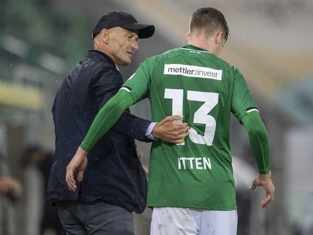 Trainer Peter Zeidler und Topskorer Cedric Itten.