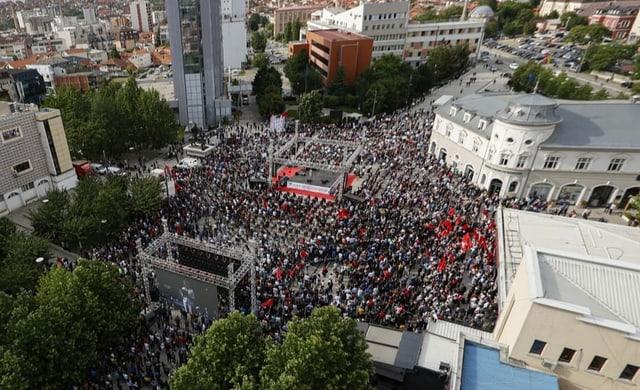 Wahlveranstaltung in Pristina.