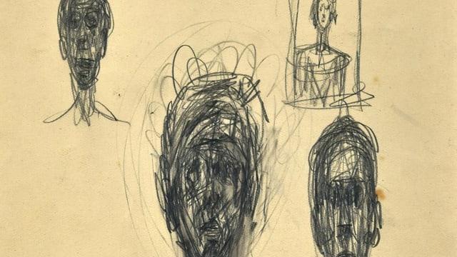 Skizzen von menschlichen Gesichtern