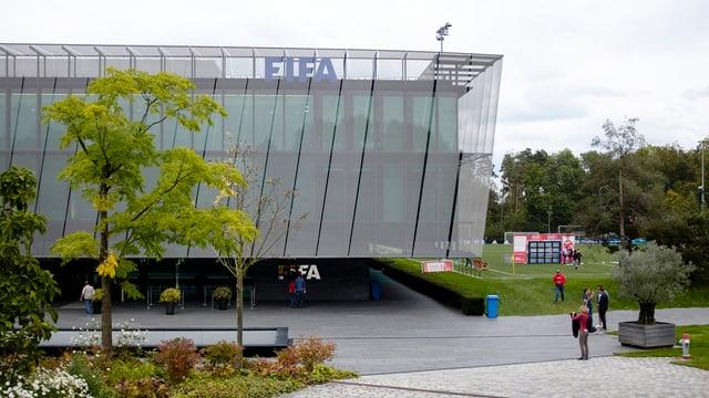 Das Hauptgebäude der Fifa auf dem Zürichberg.