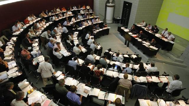 Der Sitzungssaal des Luzerner Kantonsrats.