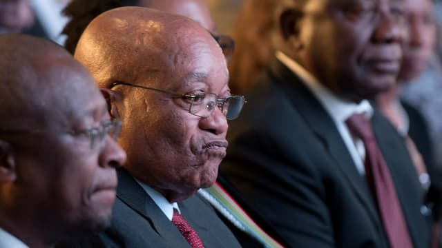 Jacob Zuma zieht ein finsteres Gesicht