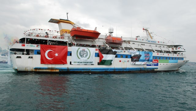 Das Schiff Mavi Marmara, das 2010 von der israelischen Marine geentert wurde.