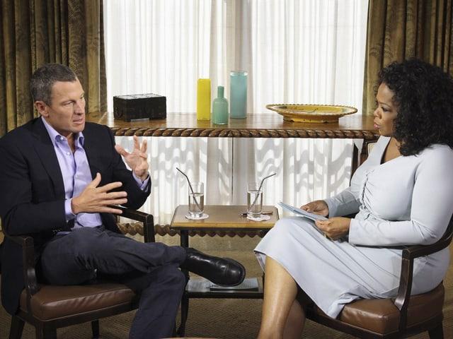 Amstrong im Interview mit Oprah Winfrey