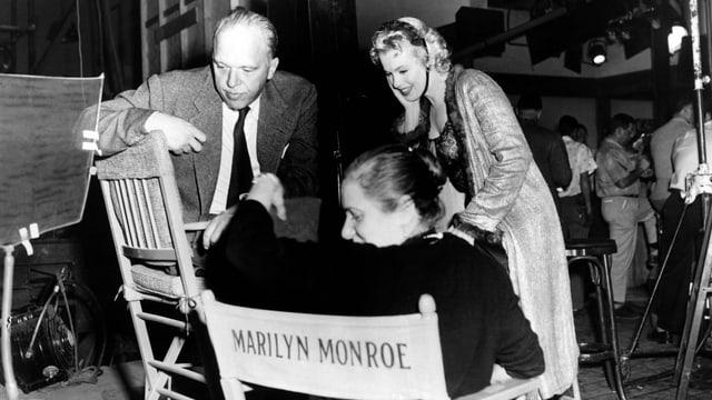 Marilyn Monroe mit ihrer Schauspieltrainerin Paula Strasberg.