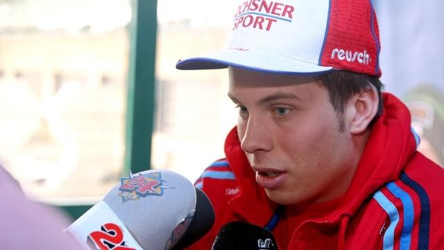 Der 21-Jährige sammelte im Januar beim Riesenslalom in Adelboden als 11. seine ersten Weltcup-Punkte.