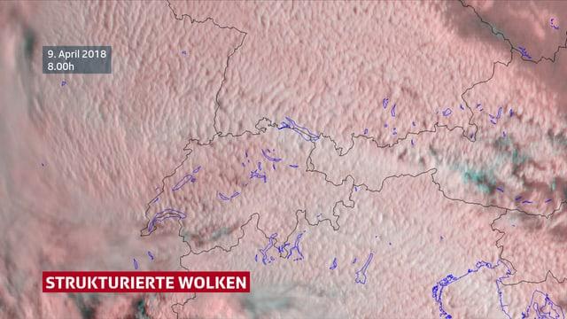 Sichtbare Wolken über der Schweiz.