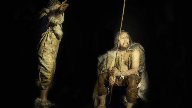 Bild zweier Cro-Magnon-Menschen.