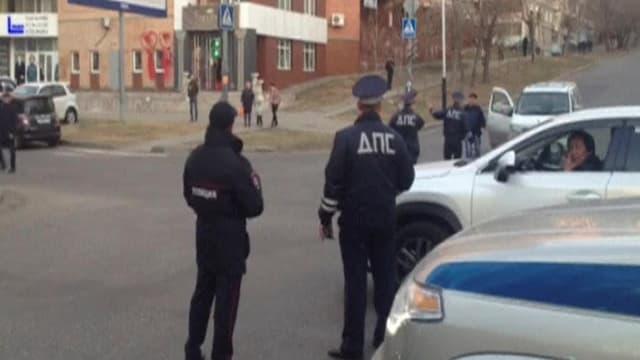Polizisten in Chabarovsk