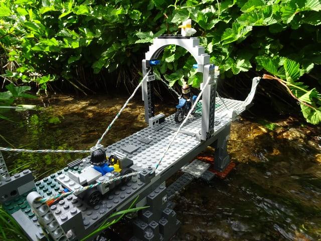 Gian, auf «Zambo» «Panofksi», 12 aus Köniz hat für seine Brücke den allercoolsten Ort ausgesucht: Das Foto wirkt, als wäre es im tiefsten Dschungel aufgenommen worden.