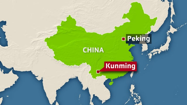 Karte von Kunming