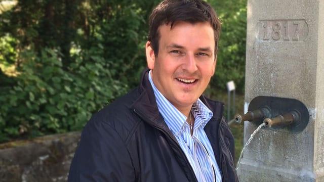 Marc Pircher an Brunnen.