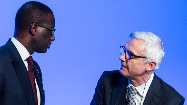 Tidjane Thiam und Urs Rohner im Gespräch