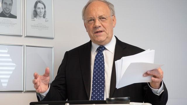 Bundesrat Schneider-Ammann spricht an einer Veranstaltung