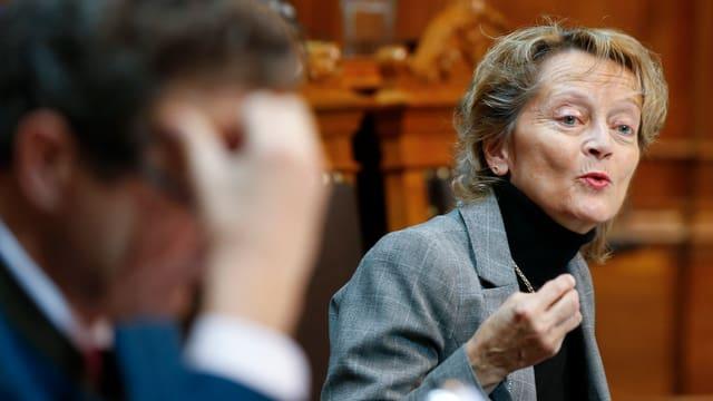 Eveline Widmer-Schlumpf am Montag im Ständerat.