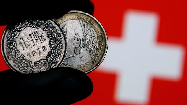 Franken Euro, Schweizerkreuz