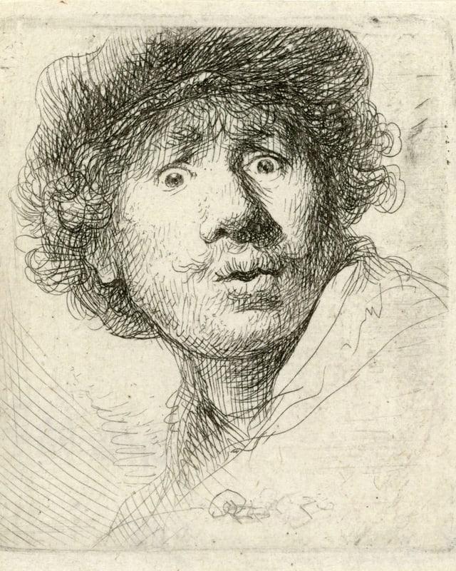 Selbstporträt von Rembrandt.
