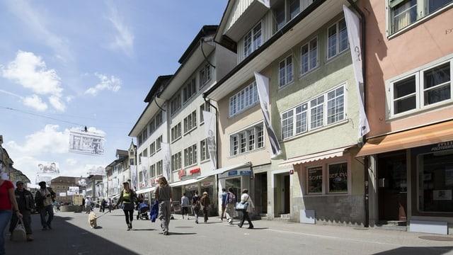 Via en la citad veglia da Winterthur.