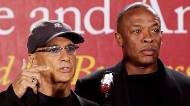 Musik-Produzent Jimmy Iovine und Hip-Hop-Star Dr. Dre.