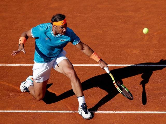 Rafael Nadal im Einsatz in Barcelona.