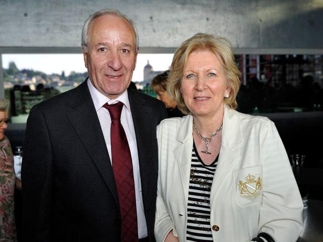 Achille Casanova mit seiner Frau.